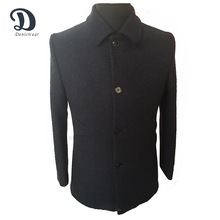 Latest design long wool men's coat