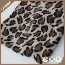 Leopard Print Best Quality Fake Plush PV Fur