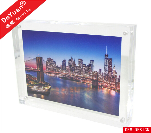 New design waterproof acrylic picture frame / perspex magnetic photo frame manufacturer