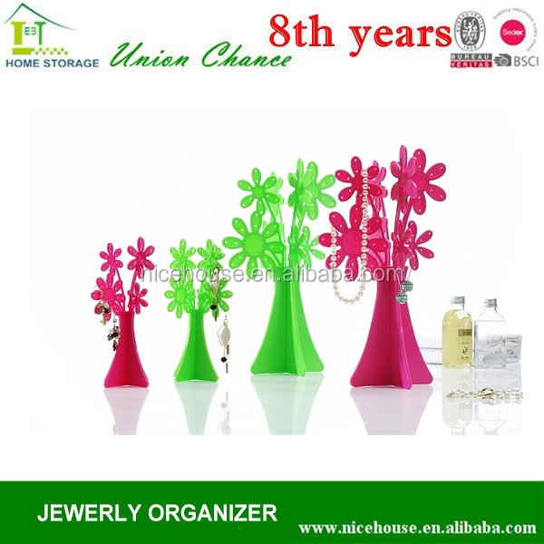 new design flower shape ornament display rack with different size