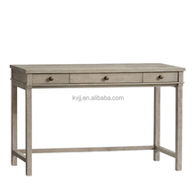 KVJ-7539 Solid wood furniture custom wooden table with wicker drawers