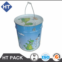 tinplate container for toy/base ball/golf/tennis/clothes/dry goods, metal box with sealed lid and handle