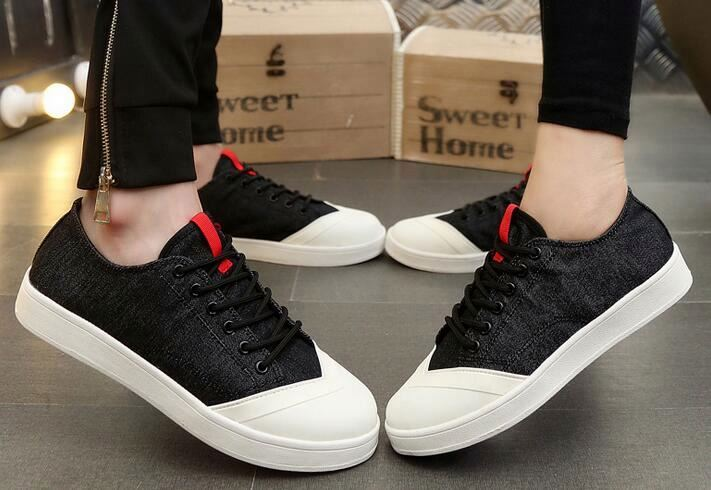 Wholesale customize cheap casual sneakers men white canvas shoes
