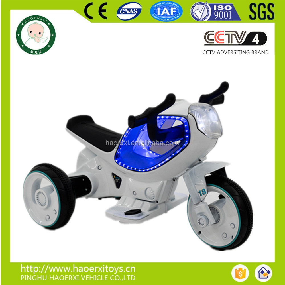 2016 hot model remote control plastic kids toy motorbike with mp3