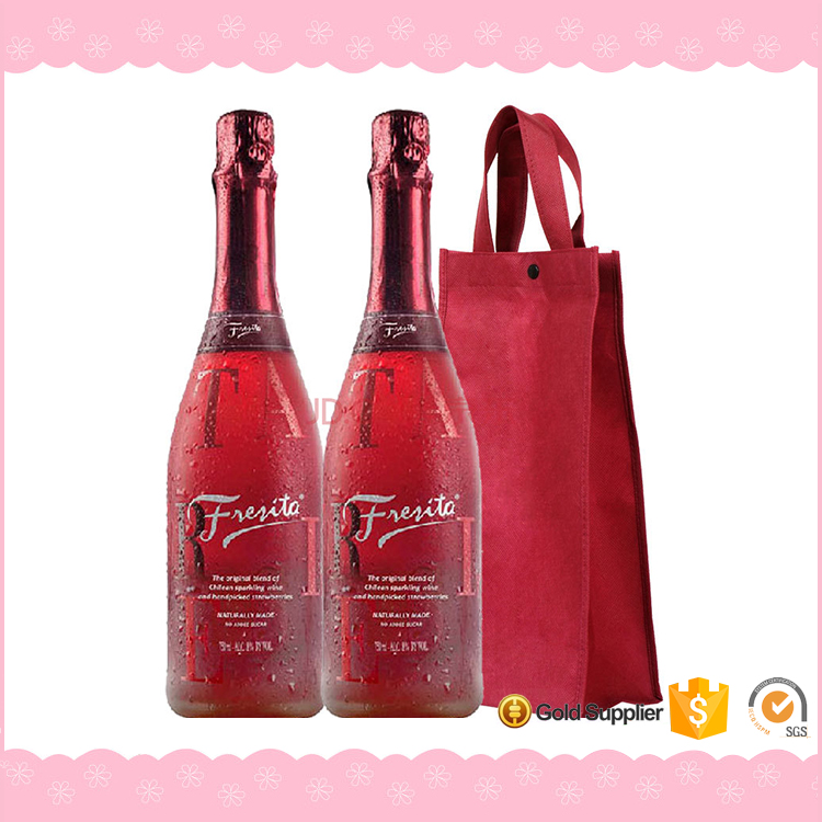 Professional Factory Made Fabric Wine Bottle Gift Bag