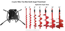 4-Cycle 196cc Two Man Earth Auger/ Electric Earth Auger