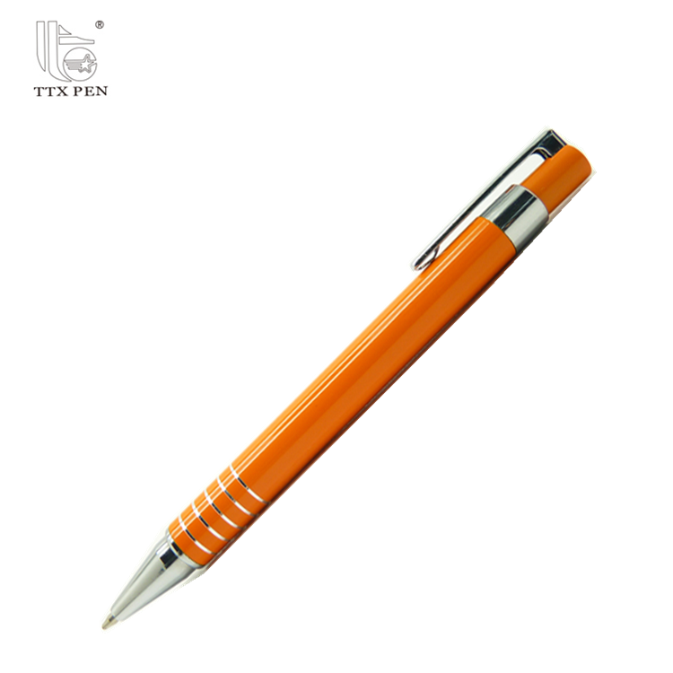 brand Promotional Retractable Click Ballpoint Metal Gift Pens