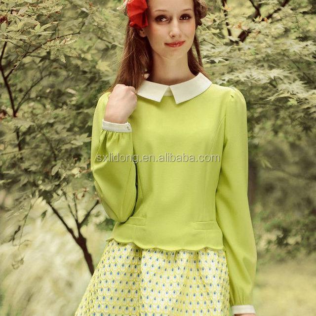 The New 2014 Bubble Long Sleeved Chiffon dress