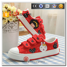 Hot selling handmade kids canvas shoes 2017 summer sneaker