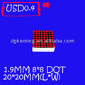 Promotion!!! 1.9mm 8x8 red dot matrix led display