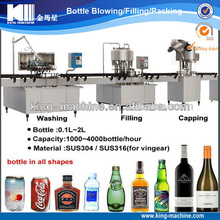 Economical linear type alcohol / alcoholic drink bottling line
