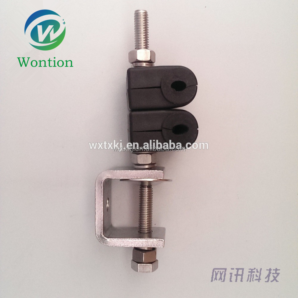 4-7mm single-hole stainless steel duplex coaxial cable clamp