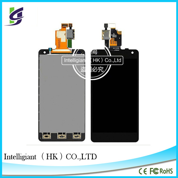 Original High Quality LCD Screen For LG Optimus G E975 E971 E973 LCD Touch Digitizer Screen frame assembly