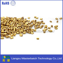 Wholesale high quality polymorph plastic pellets filling granules color masterbatch golden