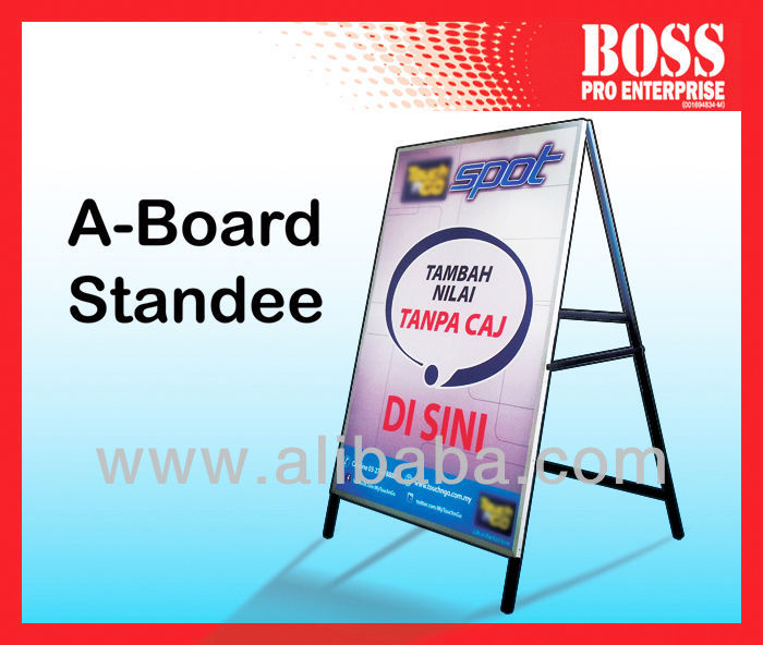 A Frame Poster Stand - Advertising Message Sign Board Station