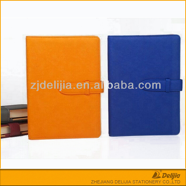 PU leather new design cheap diary organiser with clasps