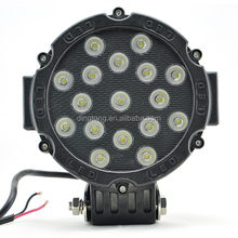 "51w round led light 7"" spot work off road fog driving roof bar bumper 4x4 utv"