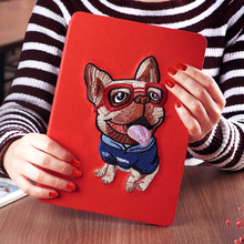 Oem & odm smart silk texture joy color 8-inch color printed tablet leather case for grils for ipad mini 123