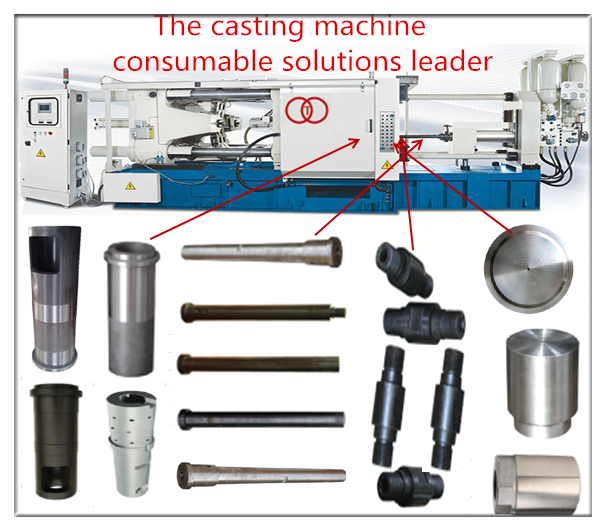 injection rod for metal injection die casting machine