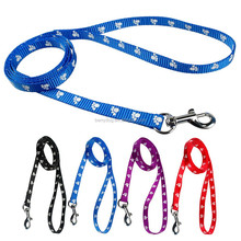 China wholesale dog Supplies Products Footprint Nylon Dog Leashes