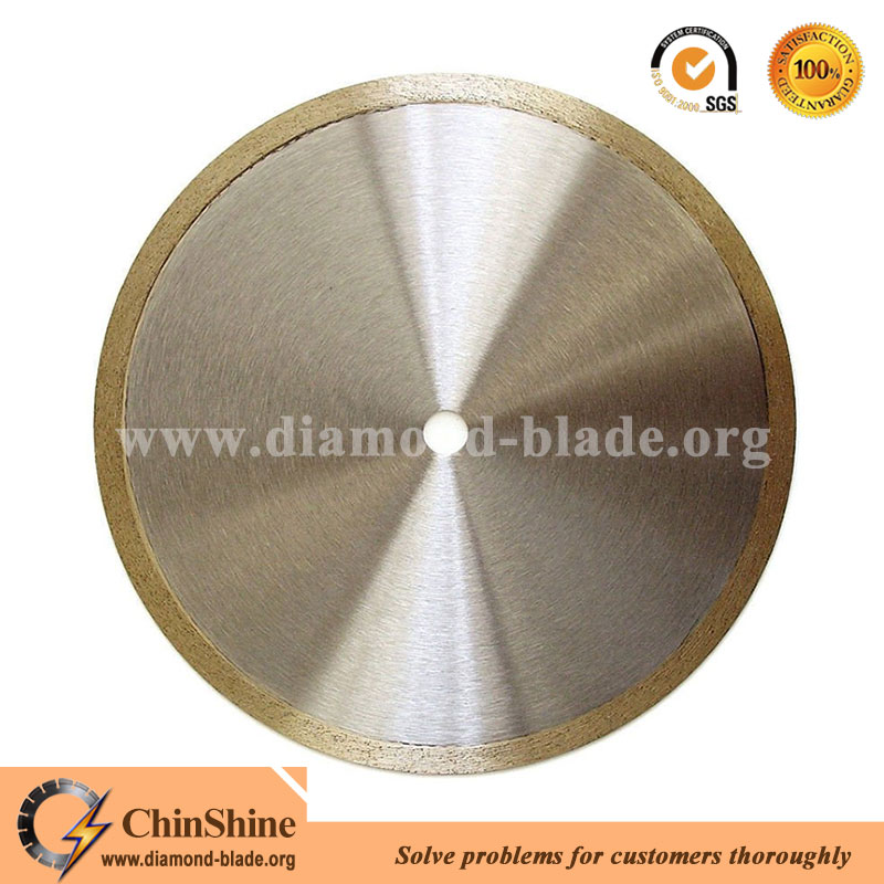 Diamond tile cutting disc continuous rim diamond saw blade for cutting ceramic and porcelain