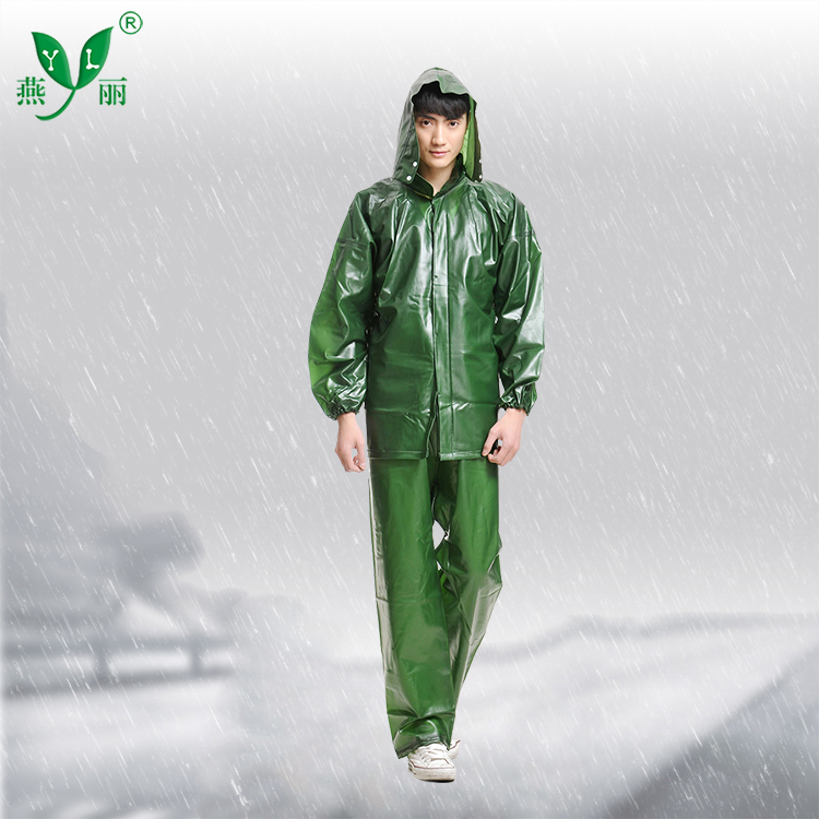 Cheap durable clear plastic rain suit for workers