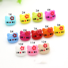 Wholesale 14mm*13mm Children Animal Design Colored Resin Decorative Clothing Buttons For Clothing