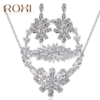 Roxi African Luxury Fashion Jewelry Sets Artificial Bridal AAA Zircon Jewelry Sets White Gold Indian Bridal Jewelry Sets Online