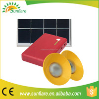 Sunflare SF-906 new design high quality solar lighting system solar power system with mobile charger function