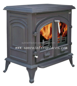 cast iron wood multi fuel stove with boiler(JA072-2B)