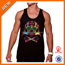 High quality 95% cotton 5% spandex men tank top, 2015 most popular man vest