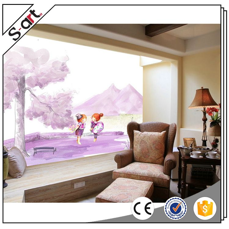 Popular products new coming 3d kid nursery room art mural