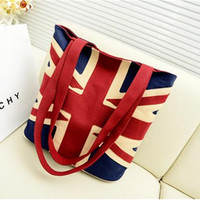 New fashion style England flag shoulder bag canvas bag Fashion ladies handbags shopping tote bag R379