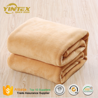 Soft Soft New Design Solid Color Micro Plush PV Fabric Heated Throw Blankets
