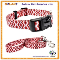 G-A-2349 jacquard dog collars and leashes