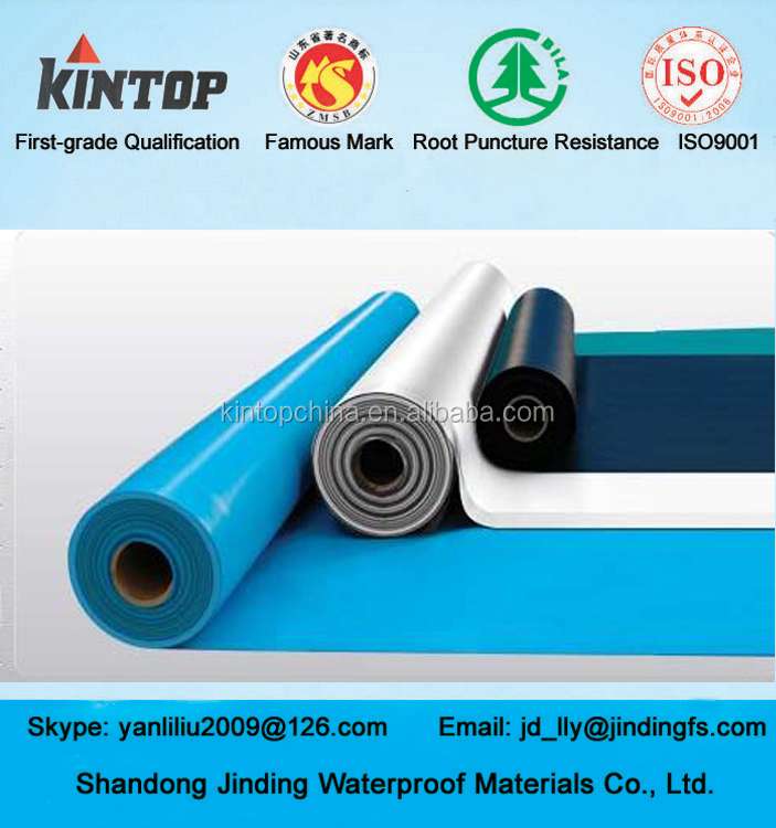 Cheap heat-resistant pvc waterproofing materials for roof