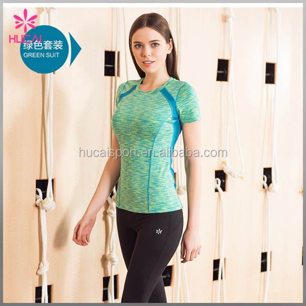 Custom 100% Polyester Short Sleeve Sport Clothes Dry Fit Running Shirt