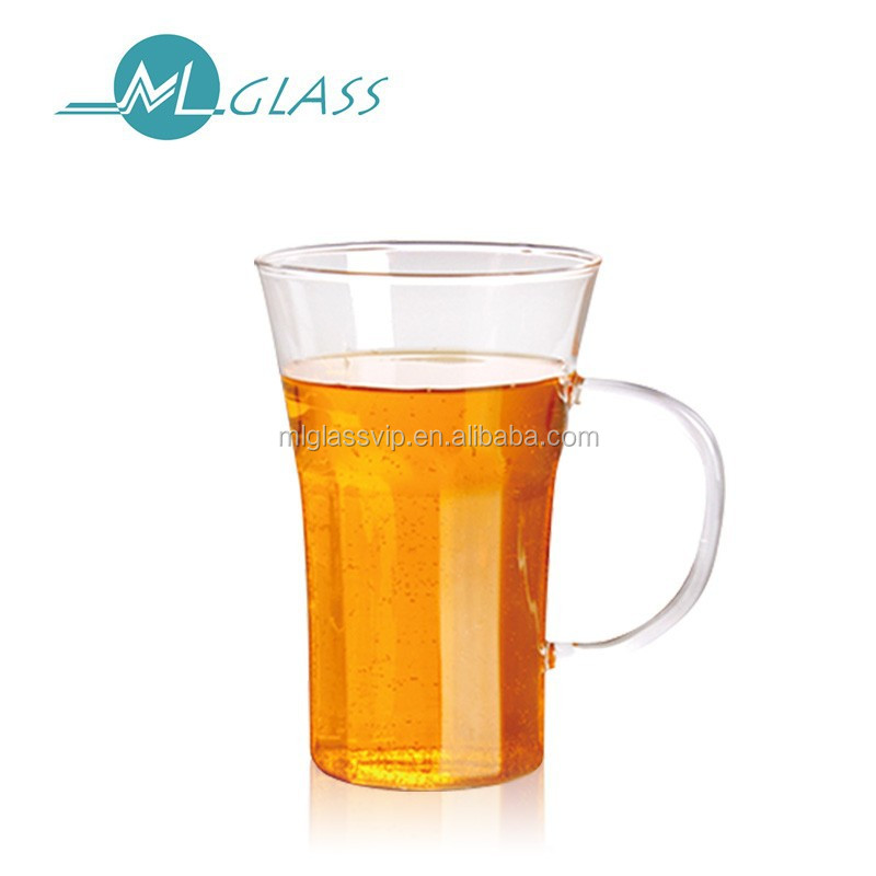 China supplier clear glass beer mug handmade glassware OEM 300ml