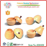 Wooden Educational Cheap Spinning Top Toy