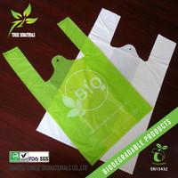wholesale En13432 certified cornstarch made eco friendly 100% biodegradable plastic bags