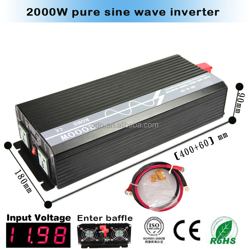 4kw peak 2kw dc 12v to ac 110v/230v off grid pure sine wave power inverter 2000w