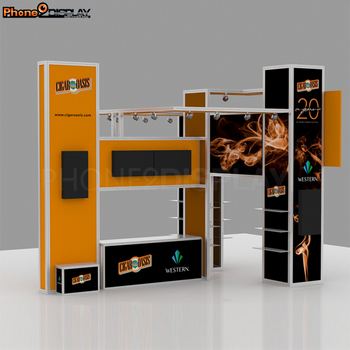 Hot sale aluminum modular exhibition display island booth for trade show