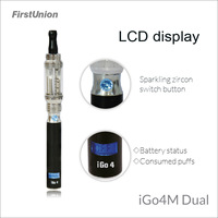 Firstunion new invention 650 mAh battery powered electronic shisha e hookah