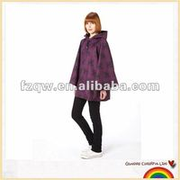 100% waterproof designer poncho raincoat purple rain poncho