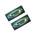 High quality micro injection colorful rubber label patch