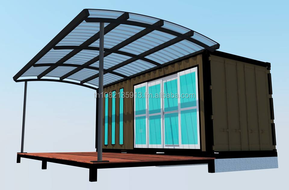 20ft 40 ft Modern Design Shipping Container Multi-Use Purpose Store Cafe Office