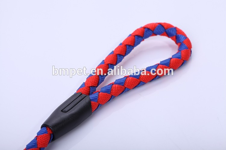 Pet Product Colorful Polyester Braided Pet Dog Leash and Harness Set