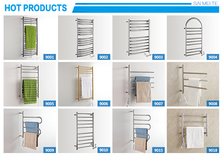 Wall hanging bathroom stainless steel golden towel warmer YMT-9006