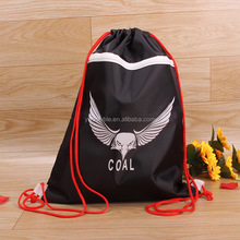 Promotional Product Reusable Camouflage Polyester Shopping Drawstring Bag Promotional Shopping Bag