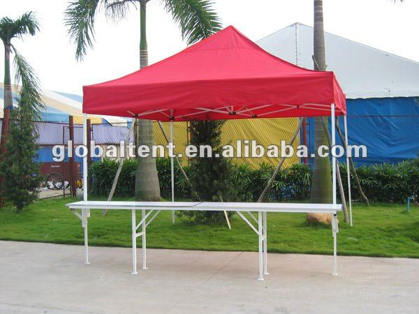 3x3m Steel Frame Vendor Tent with Table
